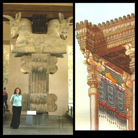 Persian column capital at the Louvre