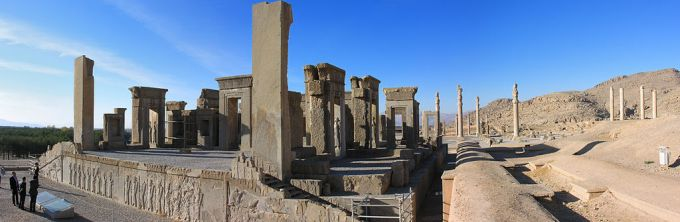 The palace at Persepolis
