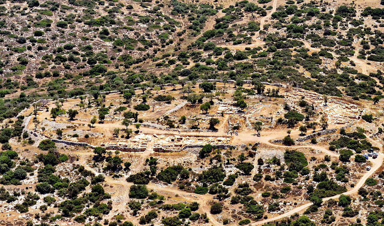 Aerial view of Khirbet Qeiyafa