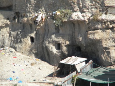Ancient tombs beneath Silwan