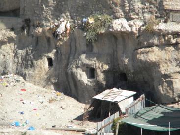 Ancient tombs beneath Silwan
