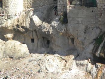 Ancient tombs underneath Silwan
