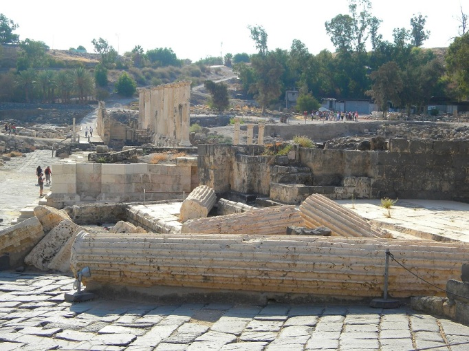 Beth Shean Earthquake damage