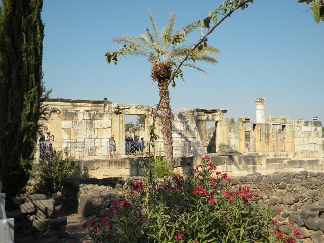 This white limestone synagogue in Capernaum dates to the late 4th to 5th century C.E.