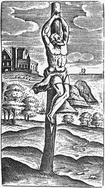 "A ""Crux Simplex"" depicted by Justin Lipsius, 1629"
